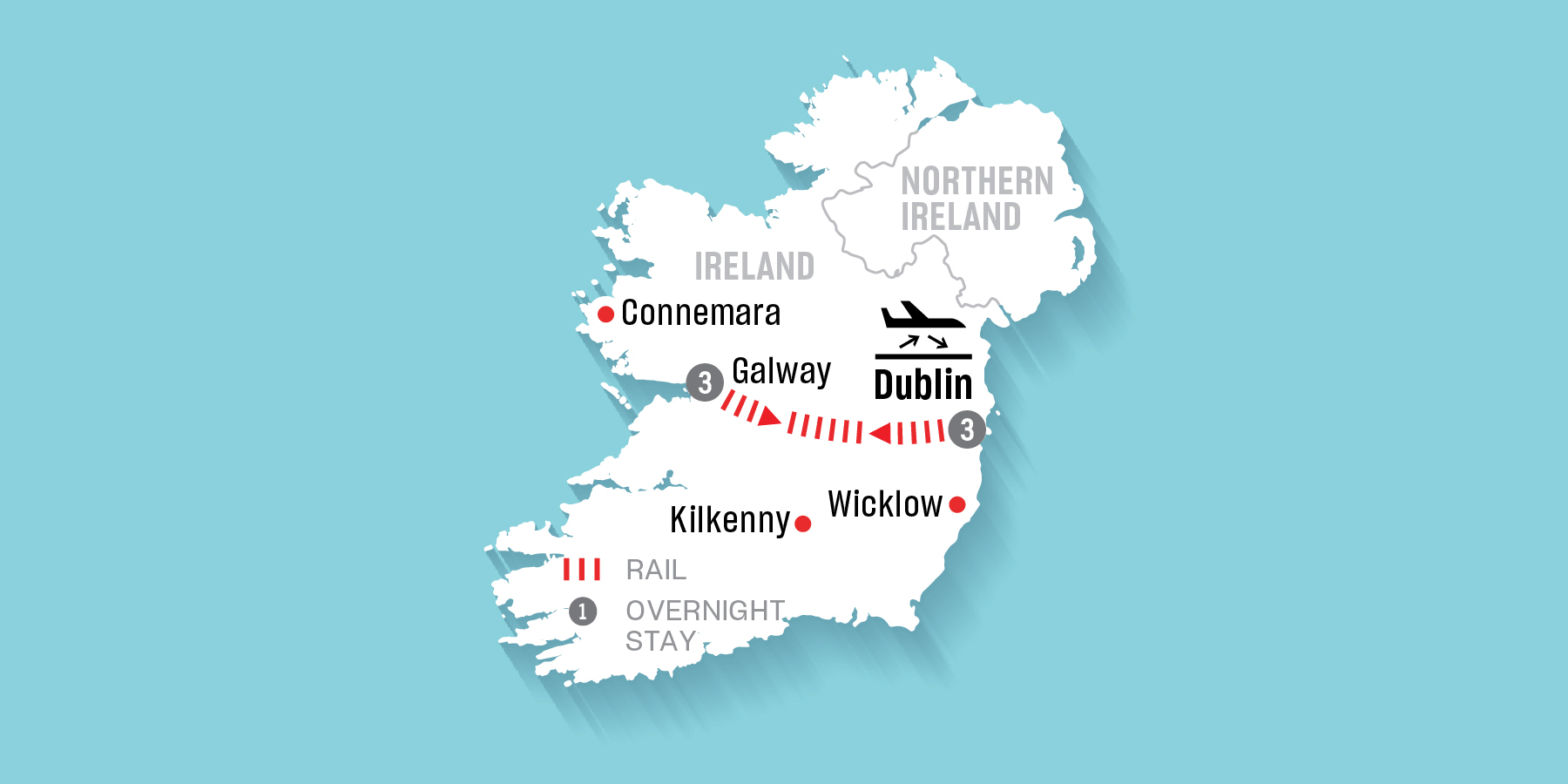 Map Of The West Of Ireland.Air Canada Vacations